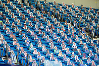20th June 2020, American Express Stadium, Brighton, Sussex, England; Premier League football, Brighton versus Arsenal ; Cardboard cut-outs of Brighton supporters in the stands for the clubs first behind closed doors game