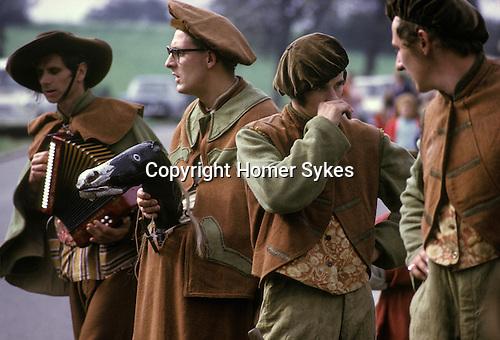 Abbots Bromley Horn Dance. Staffordshire. September. Hobby Horse Man