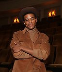 Jeremy Pope during his Broadway Debut Photo shoot at the Samuel J. Friedman Theatre on January 24, 2019 in New York City.