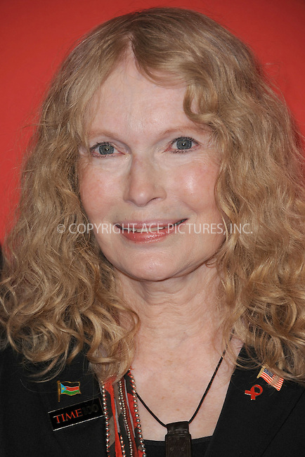 WWW.ACEPIXS.COM . . . . . .April 24, 2012...New York City....Mia Farrow arriving to the TIME 100 Gala celebrating TIME'S 100 Most Influential People In The World at Jazz at Lincoln Center on April 24, 2012  in New York City ....Please byline: KRISTIN CALLAHAN - ACEPIXS.COM.. . . . . . ..Ace Pictures, Inc: ..tel: (212) 243 8787 or (646) 769 0430..e-mail: info@acepixs.com..web: http://www.acepixs.com .