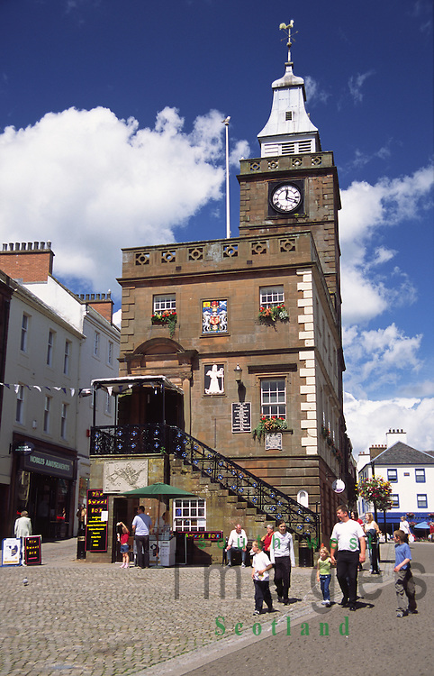 The Midsteeple in Dumfries town centre Scotland UK