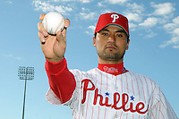 Feb 20, 2009; Clearwater, FL, USA; The Philadelphia Phillies pitcher Chan-Ho Park (35) during photoday at Bright House Field. Mandatory Credit: Tomasso De Rosa/ Four Seam Images