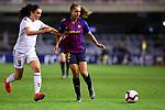 UEFA Women's Champions League 2018/2019.<br /> Quarter Finals.<br /> FC Barcelona vs LSK Kvinner FK: 3-0.<br /> Ingrid Syrstad Engen vs Lieke Martens.