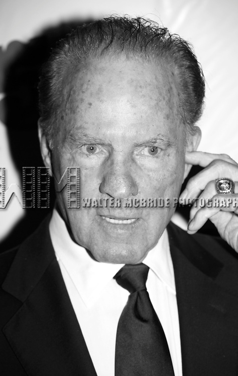 Frank Gifford <br /> attending the Broadway Opening Night Performance of <br /> &quot; 9 to 5 the Musical &quot; at the Marriott Marquis Theatre in Times Square, New York City.<br /> April 30, 2009