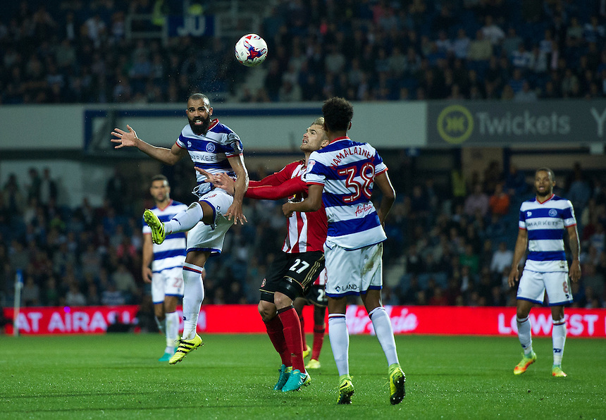 Queens Park Rangers' Sandro in action during todays match  <br /> <br /> Photographer Ashley Western/CameraSport<br /> <br /> The EFL Cup Third Round - Queens Park Rangers v Sunderland - Wednesday 21st September 2016 - Loftus Road - London<br />  <br /> World Copyright &copy; 2016 CameraSport. All rights reserved. 43 Linden Ave. Countesthorpe. Leicester. England. LE8 5PG - Tel: +44 (0) 116 277 4147 - admin@camerasport.com - www.camerasport.com