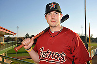 Feb 25, 2010; Kissimmee, FL, USA; The Houston Astros infielder Tom Manzella (12) during photoday at Osceola County Stadium. Mandatory Credit: Tomasso De Rosa/ Four Seam Images