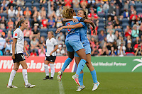 Bridgeview, IL - Sunday June 25, 2017: Casey Short, Sofia Huerta during a regular season National Women's Soccer League (NWSL) match between the Chicago Red Stars and Sky Blue FC at Toyota Park. The Red Stars won 2-1.