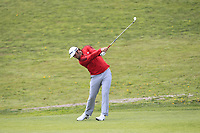 Jon Rahm (ESP) on the 1st fairway during Round 4 of the Open de Espana 2018 at Centro Nacional de Golf on Sunday 15th April 2018.<br /> Picture:  Thos Caffrey / www.golffile.ie<br /> <br /> All photo usage must carry mandatory copyright credit (&copy; Golffile | Thos Caffrey)