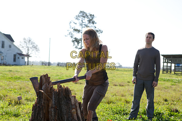 Looper (2012)<br /> Emily Blunt &amp; Joseph Gordon-Levitt<br /> *Filmstill - Editorial Use Only*<br /> CAP/KFS<br /> Image supplied by Capital Pictures