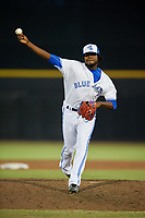 Dunedin Blue Jays relief pitcher Adonys Cardona (26) delivers a pitch during a game against the St. Lucie Mets on April 19, 2017 at Florida Auto Exchange Stadium in Dunedin, Florida.  Dunedin defeated St. Lucie 9-1.  (Mike Janes/Four Seam Images)