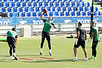 Getafe's David Soria, Leandro Chichizola, goalkeeping coach Javier Barbero and Jean Paul Garcia during training session. August 3,2020.(ALTERPHOTOS/Acero)