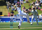 1st December 2017, Basin Reserve, Wellington, New Zealand; International Test Cricket, Day 1, New Zealand versus West Indies;  Kieran Powell batting