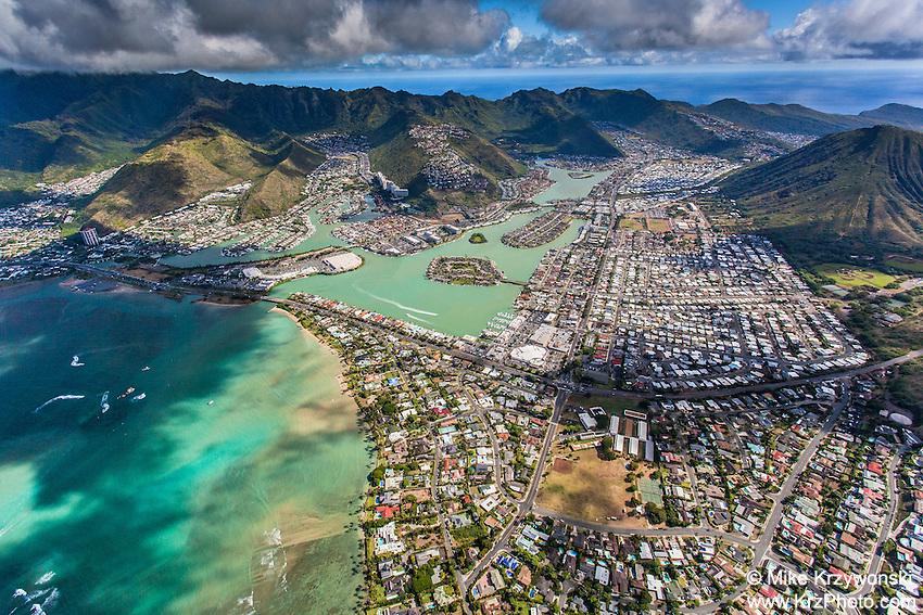 Aerial view of Hawaii Kai, Oahu