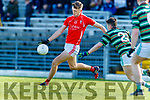 David Clifford, East Kerry in action against Fergal Barry, St Brendans  during the Semi finals of the Kerry Senior GAA Football Championship between East Kerry and Saint Brendans at Fitzgerald Stadium on Sunday.
