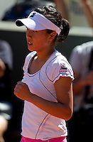 Kurumi Nara (JPN) against Arantxa Parra Santonja (ESP) in the first round of the women's singles. Aranxa Parra Santonja beat Kurumi Nara 6-2 6-2..Tennis - French Open - Day 2 - Mon 24 May 2010 - Roland Garros - Paris - France..© FREY - AMN Images, 1st Floor, Barry House, 20-22 Worple Road, London. SW19 4DH - Tel: +44 (0) 208 947 0117 - contact@advantagemedianet.com - www.photoshelter.com/c/amnimages
