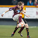 Stenny's Darren Smith holds off Alloa's Mark Docherty.