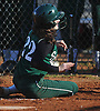 Julianne Hilcken #22 of Seaford slides home safely for a run in the top of the fifth inning of a Nassau County varsity softball game against Plainedge at Schwarting Elementary School in Massapequa on Friday, April 6, 2018. Seaford won by a score of 9-2.