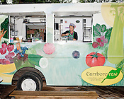 May 24, 2010. Chapel Hill, North Carolina.. Carrboro Raw sells a variety of juices, smoothies and wheat grass concoctions. Owner, Nice Polido prepares a smoothie.. The Triangle has seen a recent boom in the number of mobile food trucks selling everything from tacos, to Korean BBQ, to fresh juices.