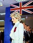 "Princess Diana looks on as she and Prince Charles tour the ""Best of Britain"" merchandise display at the J.C. Penney department store in Springfield, Virginia on November 11, 1985. <br /> Credit: Jean-Louis Atlan / Pool via CNP"