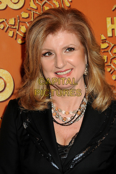 ARIANNA HUFFINGTON.HBO's 2010 67th Golden Globe Awards Post Party held at the Beverly Hilton Hotel, Beverly Hills, California, USA. .January 17th, 2009 .globes headshot portrait black necklaces.CAP/ADM/BP.©Byron Purvis/Admedia/Capital Pictures