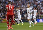 Cristiano Ronaldo vies with Boateng during the UEFA Champions League semifinal first leg football match Real Madrid CF vs FC Bayern Munchen at the Santiago Bernabeu stadium in Madrid in Madrid on April 23, 2014.   PHOTOCALL3000/ DP