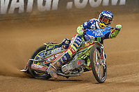 PIOTR PAWLICKI (Poland) in action during the 2016 Adrian Flux British FIM Speedway Grand Prix at Principality Stadium, Cardiff, Wales  on 9 July 2016. Photo by David Horn.