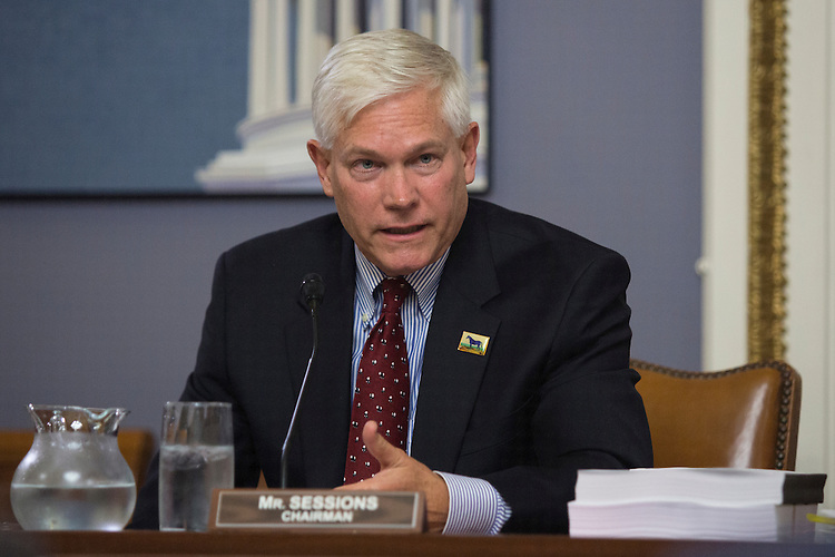 "UNITED STATES - NOVEMBER 2 - Chairman Pete Sessions, R-Texas, speaks during a House Rules Committee meeting on ""Developing a Reliable and Innovative Vision for the Economy (DRIVE) Act"" on Capitol Hill in Washington, Wednesday, November 2, 2015. (Photo By Al Drago/CQ Roll Call)"