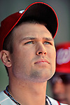 12 April 2012: Washington Nationals pitcher Craig Stammen watches Opening Day pre-game festivities prior to a game against the Cincinnati Reds at Nationals Park in Washington, DC. The Nationals defeated the Reds 3-2 in 10 innings to take the first game of their 4-game series. Mandatory Credit: Ed Wolfstein Photo