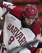 Patrick McNally (Harvard - 8) - The Harvard University Crimson defeated the Princeton University Tigers 3-2 on Friday, January 31, 2014, at the Bright-Landry Hockey Center in Cambridge, Massachusetts.
