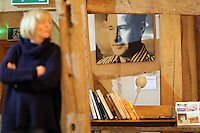 Pictured: A picture of Sidney Nolan in the exhibition area Friday 02 December 2016<br /> The Sidney Nolan Trust, Rodd, Herefordshire, England, UK