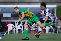 Action from the 2018 Men's National Hockey League match between Harbour and Central at National Hockey Stadium in Wellington, New Zealand on Tuesday, 18 September 2018. Photo: Dave Lintott / lintottphoto.co.nz