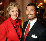 Co-chairs Sonny Garza and Marylou Pringle at a luncheon benefitting ArtBridge at the Houston Country Club  Thursday April 22,2010.. (Dave Rossman Photo)