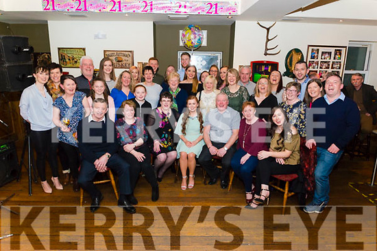 Ciara O'Sullivan from Listy celebrated her 21st birthday surrounded by friends and family in the Sportsman's Bar, Killarney last Saturday night.