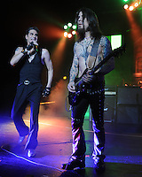 MIAMI BEACH, FL - MAY 18: Perry Farrell and Dave Navarro of Jane's Addiction perform at Fillmore Miami Beach on May 18, 2012 in Miami Beach, Florida. ©mpi04/MediaPunch Inc