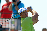 Bryson DeChambeau (USA) tees off the 1st tee during Saturday's Round 3 of the Waste Management Phoenix Open 2018 held on the TPC Scottsdale Stadium Course, Scottsdale, Arizona, USA. 3rd February 2018.<br /> Picture: Eoin Clarke | Golffile<br /> <br /> <br /> All photos usage must carry mandatory copyright credit (&copy; Golffile | Eoin Clarke)