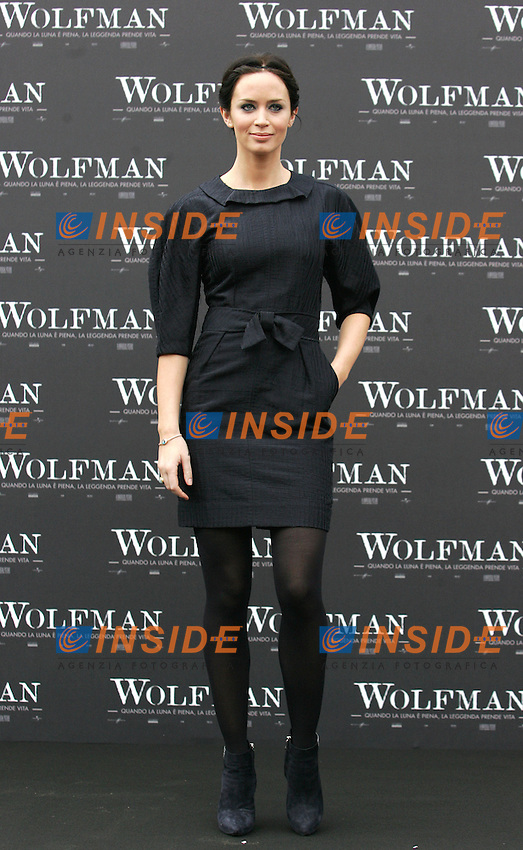 EMILY BLUNT<br /> Roma 27/01/2010 Photocall of the film Wolfman. Casa del Cinema - Rome <br /> Photo Samantha Zucchi Insidefoto