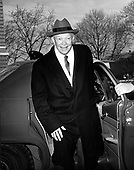 "Washington, D.C. - December 8, 1966 -- Former United States President Dwight D. Eisenhower arrives at Walter Reed Army Hospital in Washington, DC on December 8, 1966 to have his Gall Bladder removed.  He told reporters that he hoped to be out of the hospital before Christmas so he could spend the holidays with his family..Credit: Benjamin E. ""Gene"" Forte / CNP"