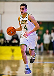 8 December 2018: University of Vermont Guard Robin Duncan, a Freshman from Evansville, IN, in first half action against the Harvard University Crimson at Patrick Gymnasium in Burlington, Vermont. The America East Catamounts rallied to defeat the Ivy League Crimson 71-65 in NCAA Division I inter-league play. Mandatory Credit: Ed Wolfstein Photo *** RAW (NEF) Image File Available ***