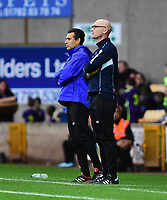 Port Vale manager Neil Aspin, right, watches from his technical area<br /> <br /> Photographer Andrew Vaughan/CameraSport<br /> <br /> The EFL Sky Bet League Two - Port Vale v Lincoln City - Saturday 13th October 2018 - Vale Park - Burslem<br /> <br /> World Copyright © 2018 CameraSport. All rights reserved. 43 Linden Ave. Countesthorpe. Leicester. England. LE8 5PG - Tel: +44 (0) 116 277 4147 - admin@camerasport.com - www.camerasport.com