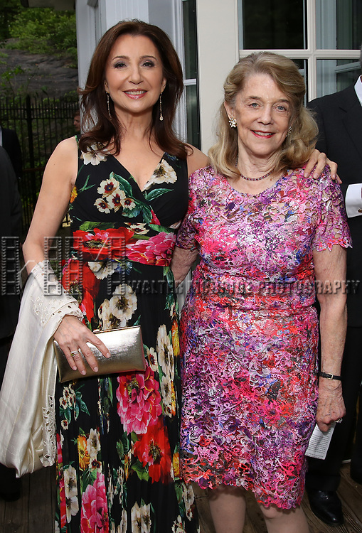 Donna Murphy and Francis Hill attends the Urban Stages' 35th Anniversary celebrating Women in the Arts at the Central Park Boat House on May 15, 2019 in New York City.