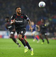 31st January 2020; Cardiff City Stadium, Cardiff, Glamorgan, Wales; English Championship Football, Cardiff City versus Reading; Liam Moore of Reading chases the high through ball