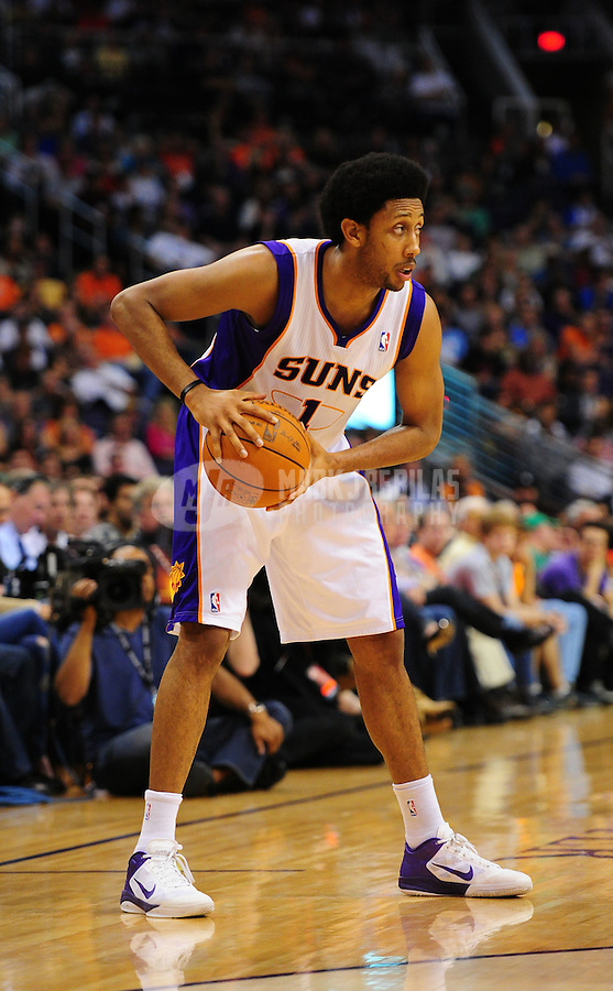 Mar. 27, 2011; Phoenix, AZ, USA; Phoenix Suns guard (1) Josh Childress against the Dallas Mavericks at the US Airways Center. The Maverick defeated the Suns 91-83. Mandatory Credit: Mark J. Rebilas-