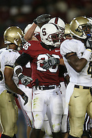 16 September 2006: Anthony Kimble scores the first Stanford touchdown in the new stadium during Stanford's 37-9 loss to Navy during the grand opening of the new Stanford Stadium in Stanford, CA.