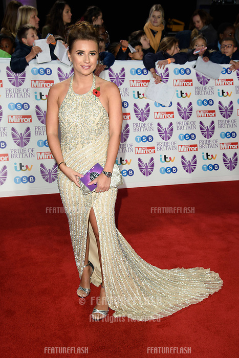 LONDON, UK. October 29, 2018: Dani Dyer at the Pride of Britain Awards 2018 at the Grosvenor House Hotel, London.<br /> Picture: Steve Vas/Featureflash