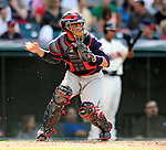 5 September 2009: Minnesota Twins' catcher Jose Morales in action against the Cleveland Indians at Progressive Field in Cleveland, Ohio. The Twins defeated the Indians 4-1 in the second game of their three-game weekend series. Mandatory Credit: Ed Wolfstein Photo