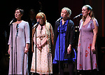 singers: Far left is Theresa McCarthy and far right is Lily McCarthy Green during the Celebrate the Life of Marin Mazzie Memorial Service at the Gershwin Theatre on October 25, 2018 in New York City.