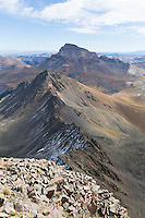 Uncompahgre Peak(background) and Matterhorn Peak (middle) from summit of Wetterhorn Peak (foreground)