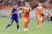 Houston, TX - Saturday Sept. 03, 2016: Kristen Edmonds, Andressa Machry during a regular season National Women's Soccer League (NWSL) match between the Houston Dash and the Orlando Pride at BBVA Compass Stadium.