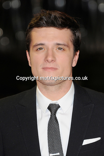 NON EXCLUSIVE PICTURE: PAUL TREADWAY / MATRIXPICTURES.CO.UK<br /> PLEASE CREDIT ALL USES<br /> <br /> WORLD RIGHTS<br /> <br /> American actor Josh Hutcherson attending the World Premiere of The Hunger Games: Catching Fire at Odeon Leicester Square in London.<br /> <br /> NOVEMBER 11th 2013<br /> <br /> REF: PTY 137321