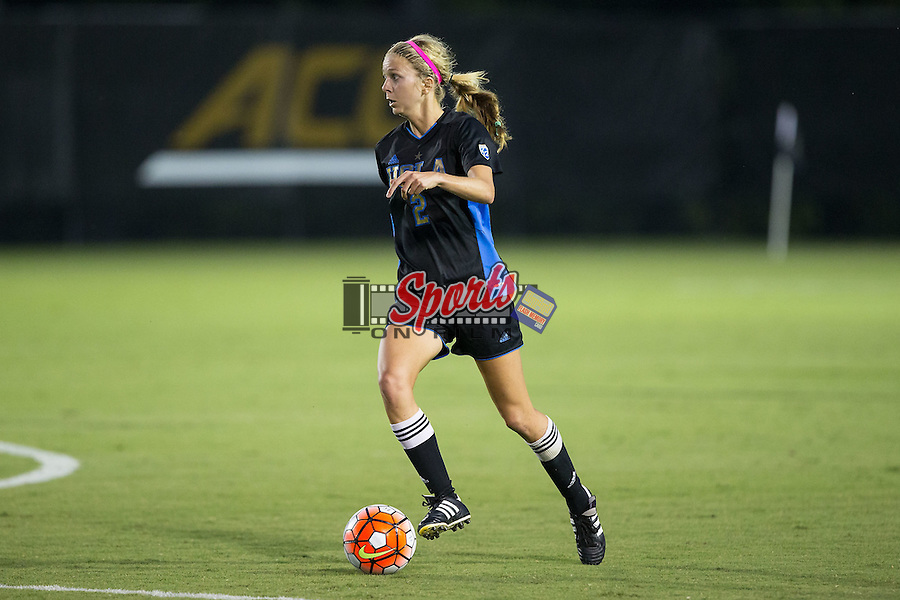 Annie Alvarado (2) of the UCLA Bruins controls the ball during first half action against the Wake Forest Demon Deacons at Spry Soccer Stadium on September 11, 2015 in Winston-Salem, North Carolina.  The Bruins defeated the Demon Deacons 2-1.  (Brian Westerholt/Sports On Film)